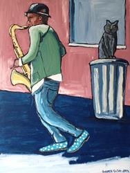 Art: Jazz&Cat by Artist Andrea Golino