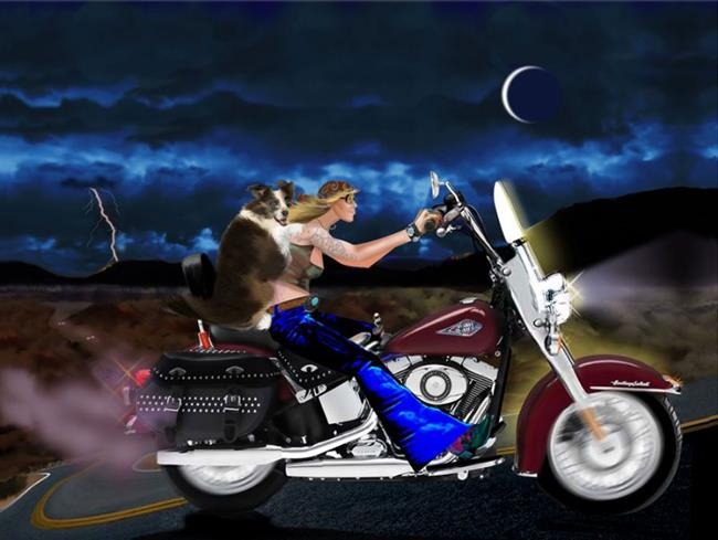 Art: Two for the Road by Artist Carol Cross