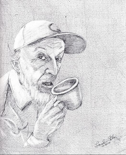 Art: Pencil Portait by Artist Leonard G. Collins