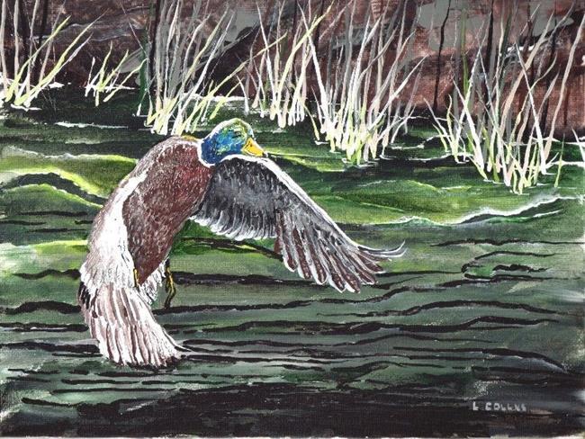 Art: Mallard Duck by Leonard G. Collins by Artist Leonard G. Collins