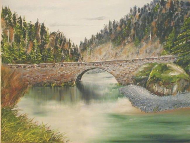 Art: Eagle Creek on Columbia River by Leonard G. Collins by Artist Leonard G. Collins