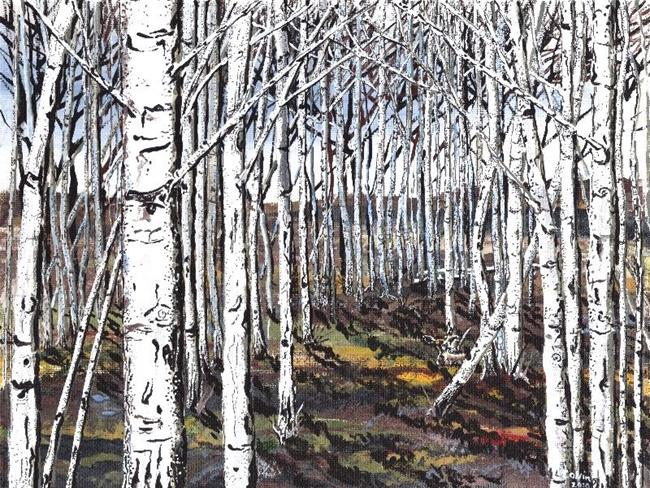 Art: Alder tree painting by Artist Leonard G. Collins