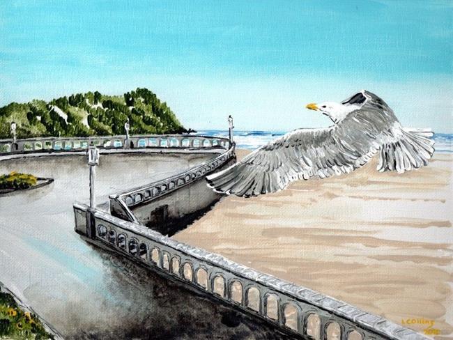 Art: Seaside by Leonard G. Collins by Artist Leonard G. Collins