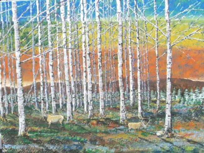 Art: Elk by Leonard G. Collins by Artist Leonard G. Collins