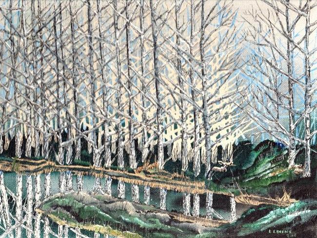 Art: Birch Trees by Artist Leonard G. Collins