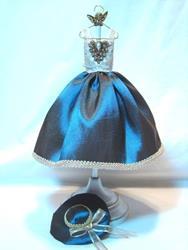 Art: Miniature Blue Satin Dress by Artist Leea Baltes