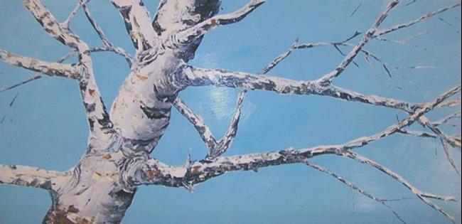 Art: Birch Tree Painting by leonard G. Collins by Artist Leonard G. Collins