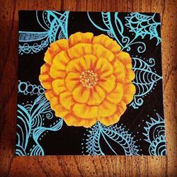 Art: Marigold Uno by Artist Tabatha  Rhodes