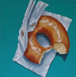 Art: Doughnut Touch by Artist Tabatha  Rhodes