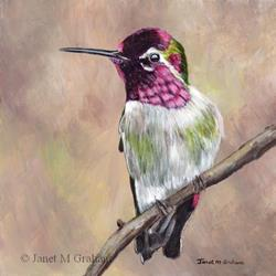 Art: Hummingbird 2 by Artist Janet M Graham
