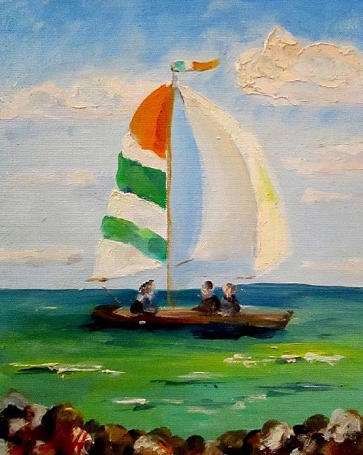 Art: Irish Sail Boats by Artist Delilah Smith