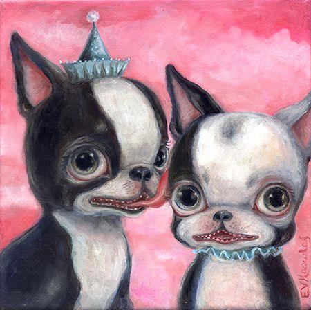 Art: Lucky Licky Likes Lackey Larry by Artist Vicky Knowles
