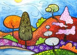 Art: Sunny day in September by Artist Sandra Willard