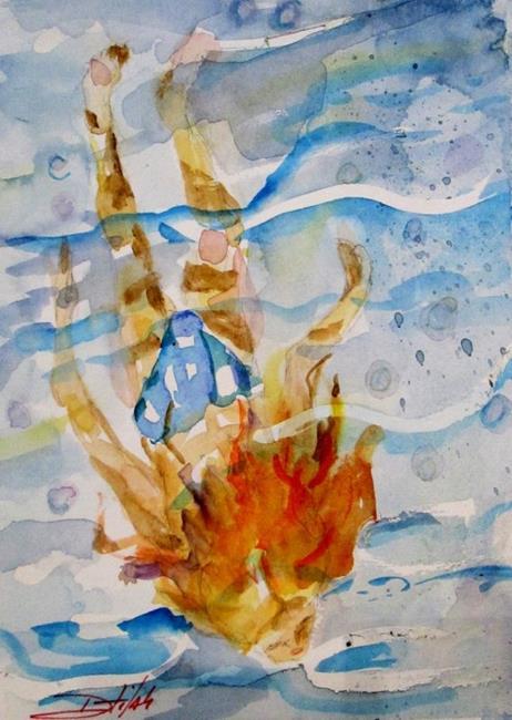 Art: Blue Water Swimmer by Artist Delilah Smith