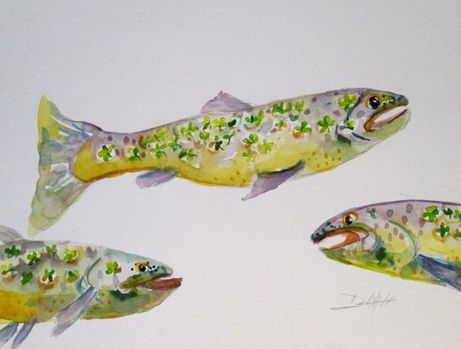 Art: Shamrock Trout by Artist Delilah Smith