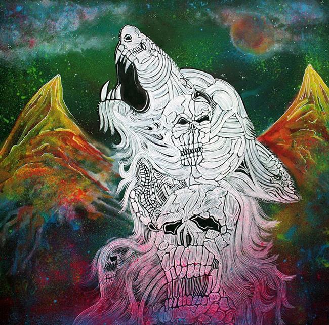 Art: Wolf Spirit Animal by Artist Laura Barbosa
