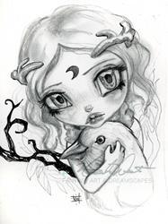 Art: hornedfinchgirl by Artist Natasha Wescoat