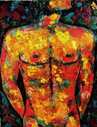 Art: Male Torso by Artist Ulrike 'Ricky' Martin
