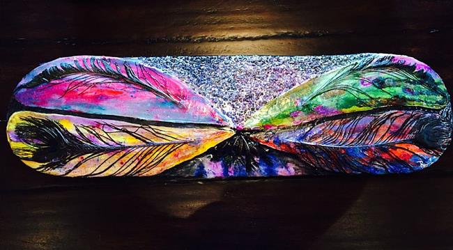 Art: Kauai Dragonfly 1 by Artist Rebecca M Ronesi-Gutierrez