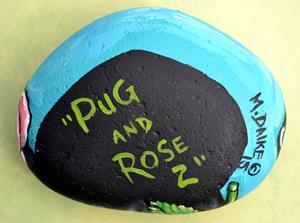 Detail Image for art pug rose 2 a