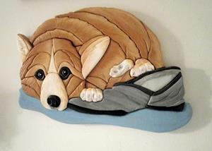 Detail Image for art Corgi Dog..