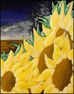 Detail Image for art Wind in the Sunflowers