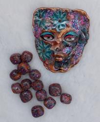 Art: Spirit Bead Cabachon #1243 by Artist Ke Robinson