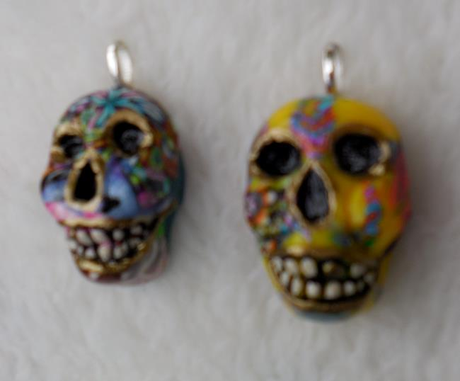 Art: Sugar Skull Beads #1224 by Artist Ke Robinson