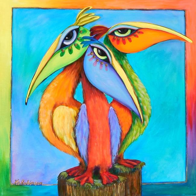Art: Sanibel Pelicans sold by Artist Ke Robinson