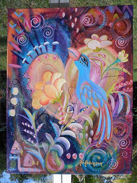 Art: Love Bird I 24x18 0510 by Artist Ke Robinson