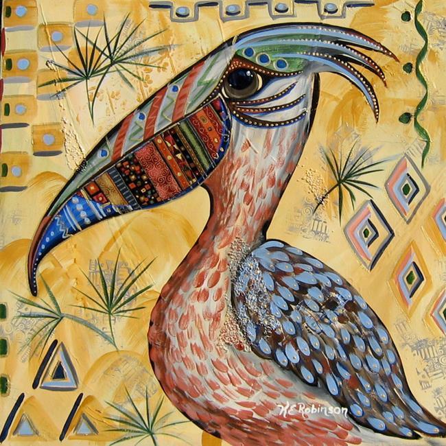 Art: Pelican #7832 12x12 by Artist Ke Robinson