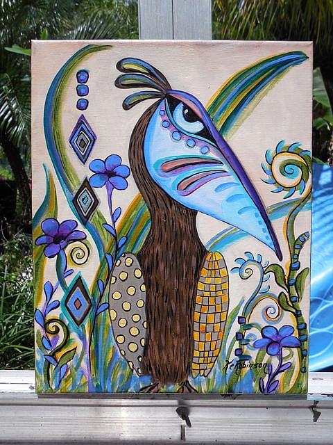 Art: Pelican #0509 14x11 by Artist Ke Robinson