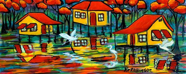 Art: Fl Everglades Swamp House  433 2 by Artist Ke Robinson