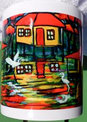 Art: Swamp Houses Mug Gift  #0384 by Artist Ke Robinson