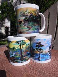 Art: Florida Coffee Mugs #0798 by Artist Ke Robinson