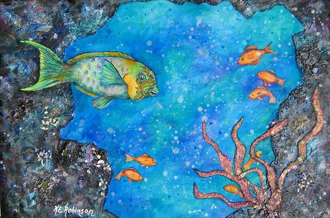 Art: Parrot Fish 5632 by Artist Ke Robinson