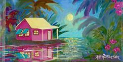 Art: Island Moon -sold by Artist Ke Robinson