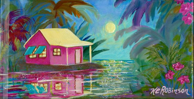 Art: Island Moon -sold by Artist Ke Robinson