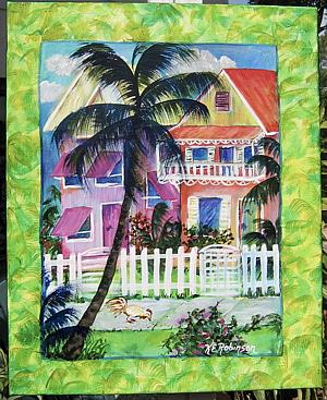 Art: Key West Beach House sold by Artist Ke Robinson
