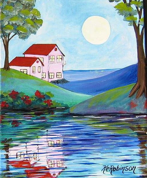 Art: Villa Bayside by Artist Ke Robinson