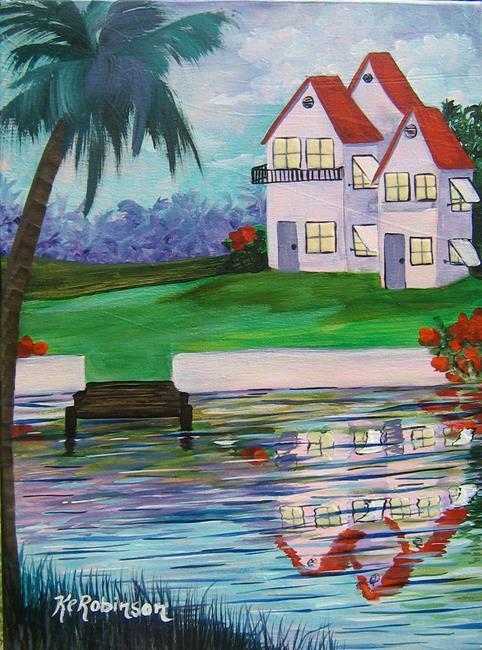 Art: Half Moon Cove by Artist Ke Robinson