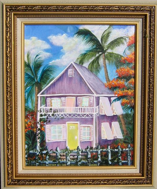 Art: Key West Florida home  5587 by Artist Ke Robinson