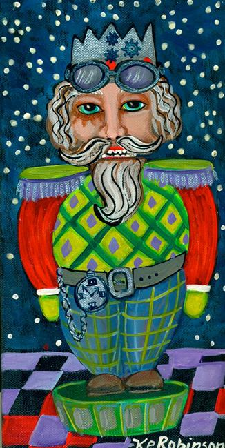 Art: Nutcracker Christmas 12x6 448 m:f by Artist Ke Robinson