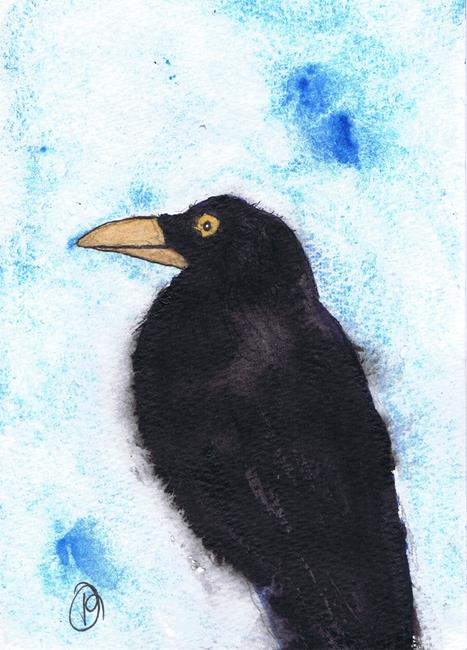 Art: CROW b109 by Artist Dawn Barker