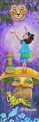 Art: 1282 Alice In Wonderland Cat Hooka by Artist Ke Robinson