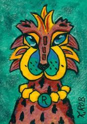 Art: #202 Cat People by Artist Ke Robinson