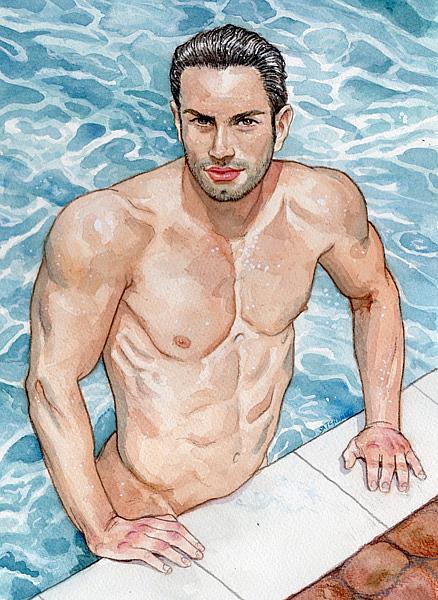 Art: Pool Boy by Artist Mark Satchwill