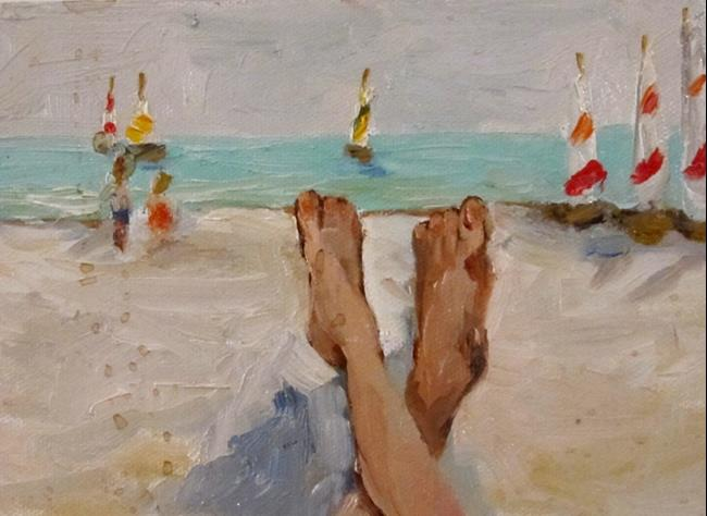 Art: Beach Relaxation by Artist Delilah Smith