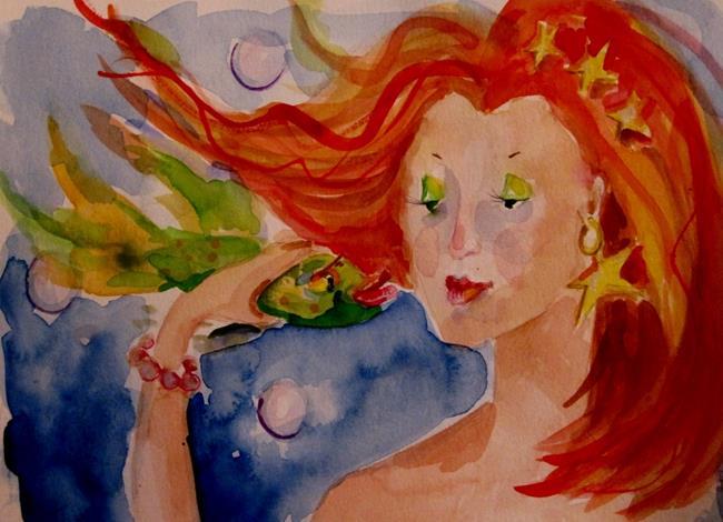 Art: Fish Kisses by Artist Delilah Smith