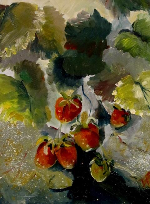 Art: Wild Strawberries by Artist Delilah Smith
